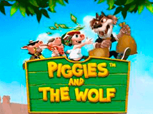 В казино Вулкан 777 Piggies And The Wolf